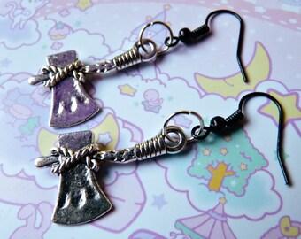 Celtic Axe Gothic Earrings