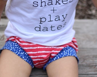 4th of july  shorts - fourth of july shorts -organic baby shorts -shorts- patriotic shorts- harem shorts - baby boy - shorties - baby girl