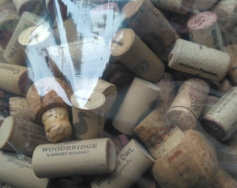 150 Used Corks for Upcycling - Synthetic and Non-Synthetic