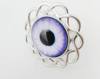 Rings, ring, Eye ring, purple ring,