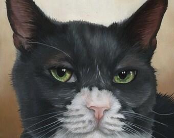 Portrait personnalisé de Pet - peinture à l'huile, art chien, art de chat, cadeau pour amoureux des chats, cadeau pour amoureux de chien