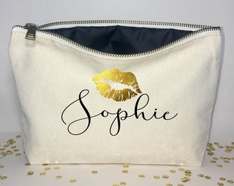 Personalized  Makeup bag - Makeup organizer  -  cosmetic bag - Birthday gift- Make-up holder - Cosmetic bag