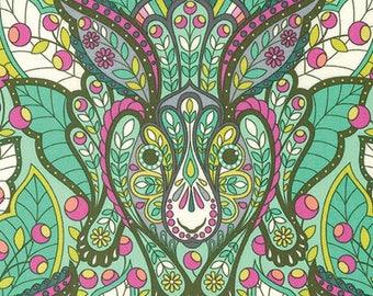 Tula Pink - Slow & Steady - The Hare - Strawberry Kiwi (PWTP084.STRAW) - 1/2 Yard++