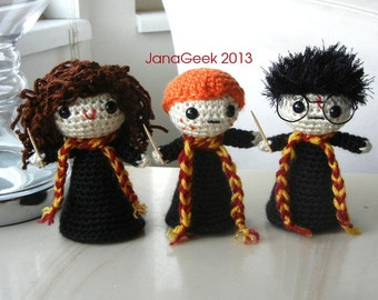 Harry Potter and Pals Doll Crochet Pattern