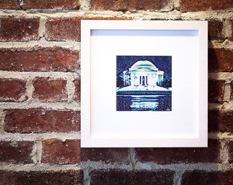 Framed Art Print of Jefferson Memorial in Washington, DC