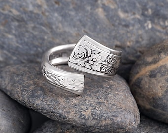 Silverware Handle Ring (Spoon Ring) Size 8 SR171