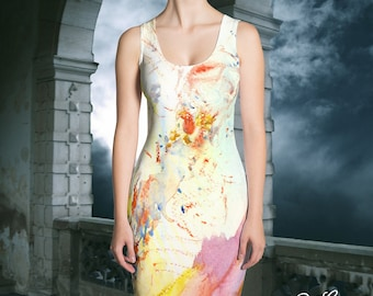 "Angelic Grace"" Watercolor Painting, Cut & Sew Dress by Red Rose Grace"