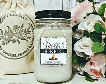 Soy Candle - Smoke Candles - Winter Candle - Campfire Scented Candle - Christmas gift for him - Firewood Candle - Masculine Candle