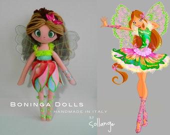 """RAG DOLL - Boninga Dolls: Winx Club """"Flora"""""""