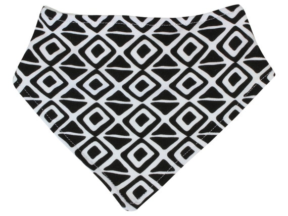 Black And White Triangle Bibdana Baby Bib Boy Drool Bib Boy Bib Unisex Bibdana Bib Diamond Bibdana Girl Bandana Bib Baby Boy Gift Baby Girl