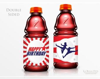 AMERICAN NINJA WARRIOR Sports Drink / Gatorade / Powerade Bottle Label printable / diy