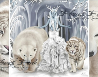 Tempest of Ice Queen Snow Witch - Limited Edition Print