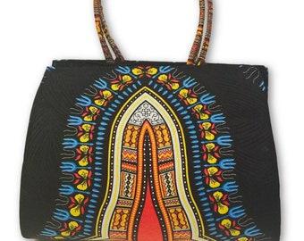 Ladies Handmade Dashiki Print Handbag