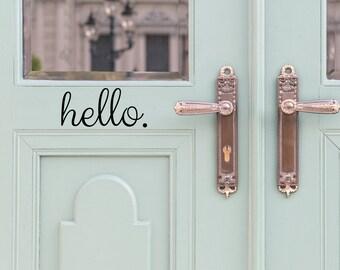 More colors. Hello Door ... & Door decals | Etsy