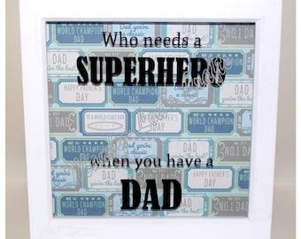 Who needs a superhero...Vinyl Frame