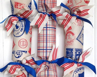 Postmarks and Plaid Party Cracker