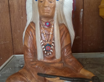 sitting Indian chief