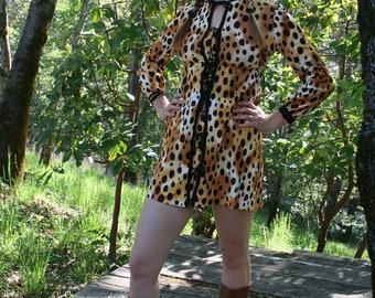 It's a Jungle Out There, 1960's Leopard Print Mini Dress