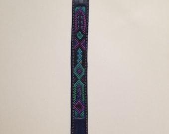 Leather Friendship Bracelet Mexican Handwoven