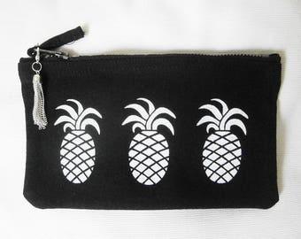 White pineapple multi-use accessory case