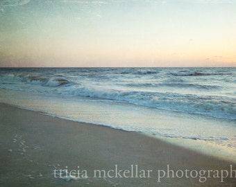 Large Print, Ocean Photograph, Morning on the Beach, 30x45 Fine Art Photography Print by Tricia McKellar