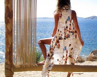 Pareo dress, Summer coverup, Beach cover up, Summer dress, Beach dress,  Tropical Print, ALOHA