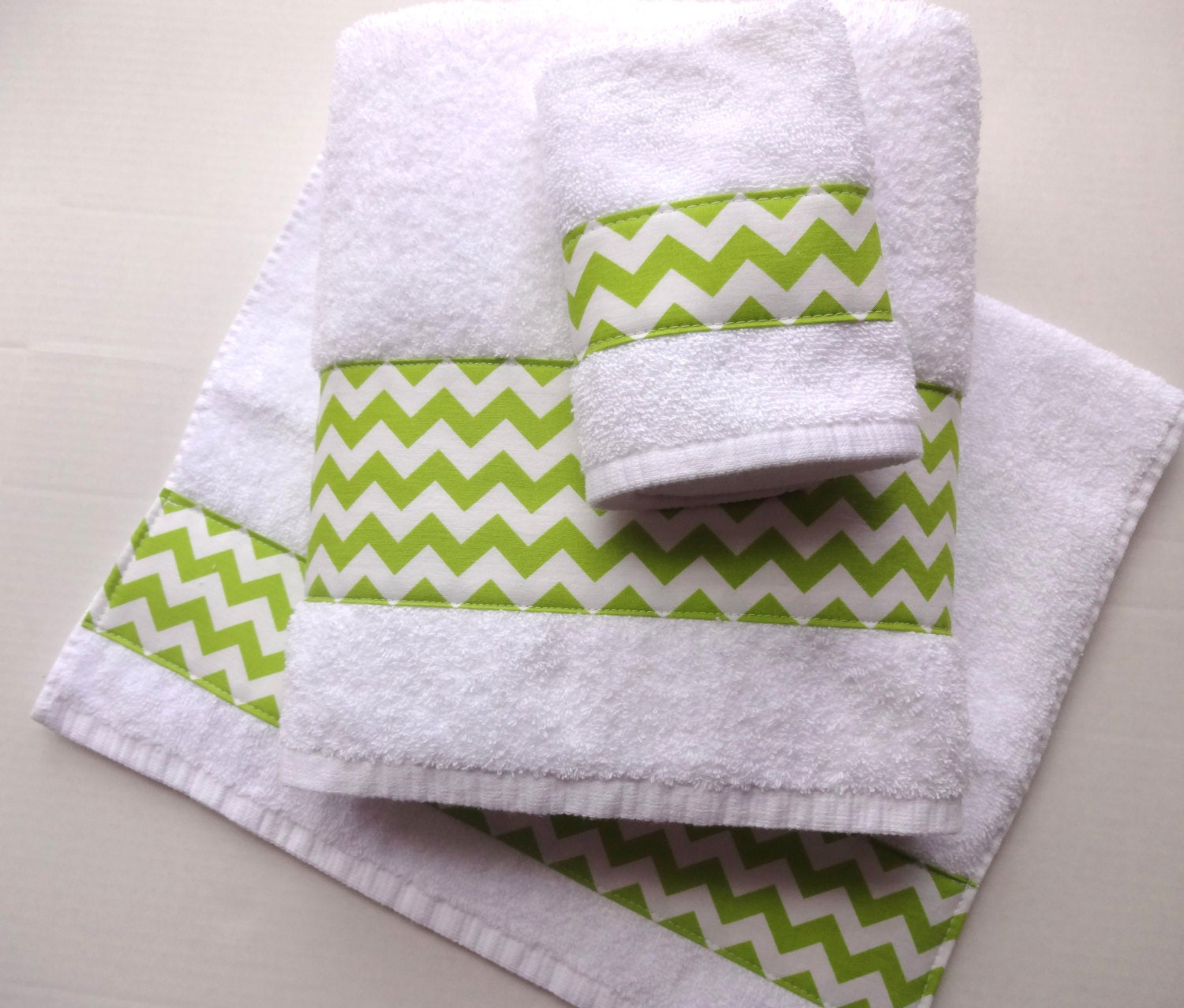 Lime Green Chevron Towels hand towels chevron lime green