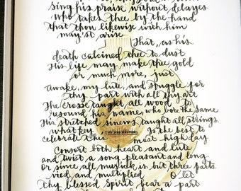 Easter Poem by George Herbert Lute Holy Week Wall Art 1600