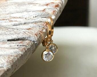 Dainty Gold CZ Earrings