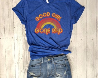 Good Girl Gone Rad...Retro Unisex Royal Triblend Tee, Graphic Tee, Triblend, Funny, Unisex, T-Shirt, Workout Tee, Graphic Tee