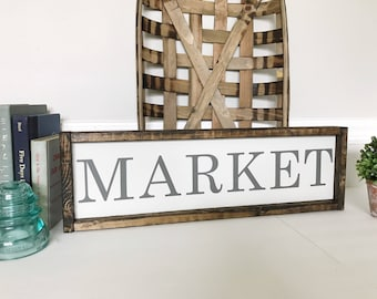 Custom Wood Signs, Farmhouse Signs, Kitchen Signs, Kitchen Decor, Market Sign, Grocery Sign, Coffee Sign, Farmhouse Decor
