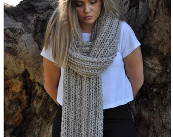 Oversized scarf wool, Knit scarf, Long scarf for women, Extra Long Scarf, Long Knit Scarf, Women's Scarves,