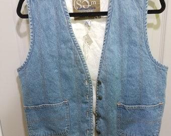 Blue Denim Vest Vintage