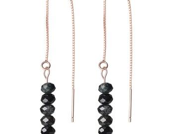 Rose Gold Plated Threader Earrings Stones Earrings for Women Girls with Gift Box