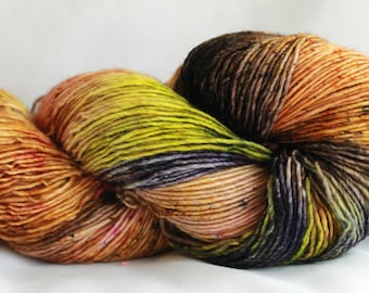 HE SAID -Speckle dyed, Super wash merino single ply ,100 Grams (400 yards) free shipping