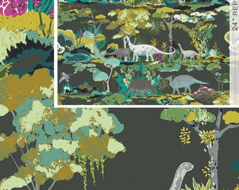 Dinosauria- Esoterra- by Katarina Roccella for Art Gallery Fabric