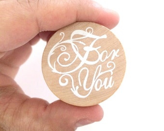 for you rubber stamp - stationery stamp - gift packaging stamp - wooden stamp - card making stamp - scrapbooking stamp - packaging stamp