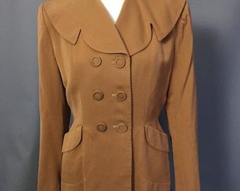 Caramel 1940s jacket / blazer / suit jacket