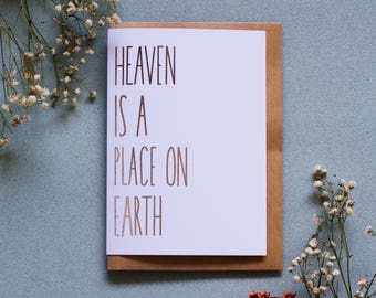 Heaven Is a Place On Earth - San Junipero - Black Mirror Greeting Card