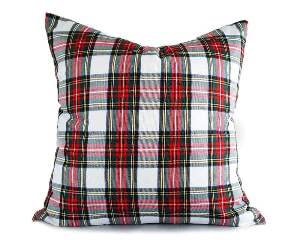 Christmas Pillows Holiday Pillow Cover Plaid Throw Pillows