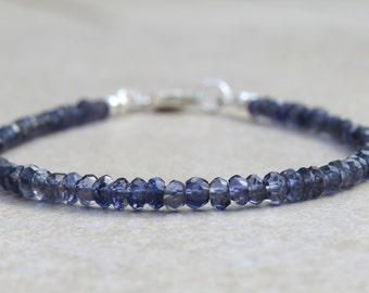 Iolite or Water Sapphire Bracelet