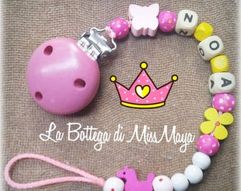 Baby Pacifier Holder with name