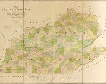 Poster, Many Sizes Available; 1839 Map Of Kentucky And Tennessee