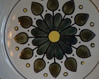 Vintage Stoneware Montego Chop Plate/ Made in Japan 4113/ 1970s Retro Dinnerware