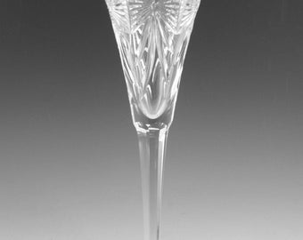 """WATERFORD Crystal - MILLENNIUM Cut - Happiness Champagne Flute Glass - 9 1/4"""""""