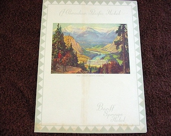 Banff Springs Hotel 1938 Dinner Menu Canadian Pacific Hotels Vintage