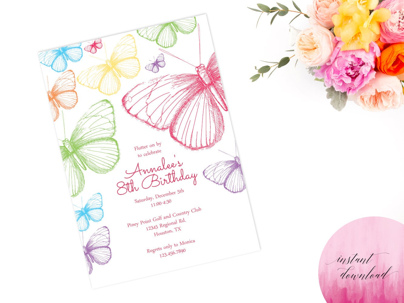 printable butterfly party invitation butterfly birthday