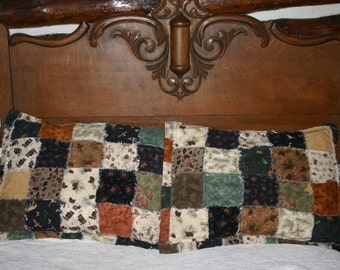 Lodge Cabin Pillow Sham Flannel Cabin Ski Lodge Decor Pinecones by Northernlodge on Etsy