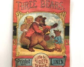 Three Bears McLoughlin Bros. Little Dot's Series 1897