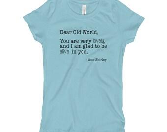 Dear Old World Tee, Anne of Green Gables T-Shirt